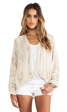 Love Sam Omari Beaded Jacket in Champagne