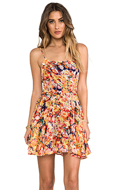Lucca Couture Mini Tank Dress in Navy Blossom
