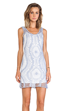 Lucca Couture Tank Dress in Tile Blue