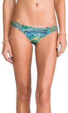 Luli Fama Perla del Caribe Ruched Back Brazilian Bottom in Multicolor