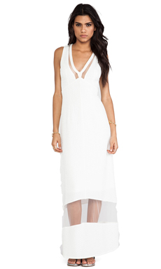 Lumier Sheer Genius Maxi Dress in White