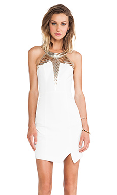 Lumier Edge of Eternity Dress in White & Gold