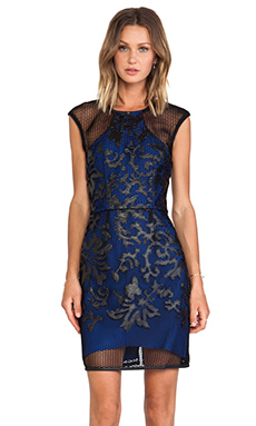 Lumier Caught Up On You Mini Dress in Black & Blue