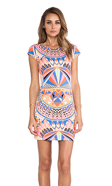 Mara Hoffman Cap Sleeve Mini Dress in Mufasa Tangerine