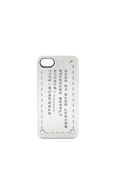 Marc by Marc Jacobs Standard Supply iPhone 5 Case in Metallic Silver