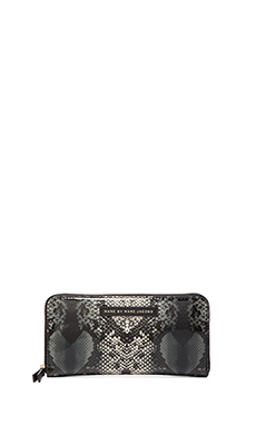 Marc by Marc Jacobs Snake Heart Techno Slim Zippy Wallet in Grey Multi
