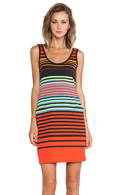 Marc by Marc Jacobs Paradise Stripe Jersey Tank Dress in Black Multi