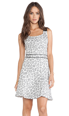 Marc by Marc Jacobs Heather Stretch Jacquard Dress in Antique White Multi