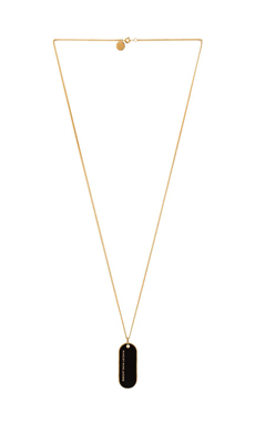 Marc by Marc Jacobs Modern Marc Logo Modern Logo Pendant in Black & Oro