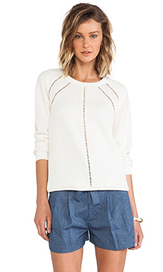 Marc by Marc Jacobs Demi Jacquard Sweatshirt in Antique White