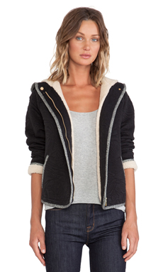 Marc by Marc Jacobs Willier Quilted Knit Hoodie in Black