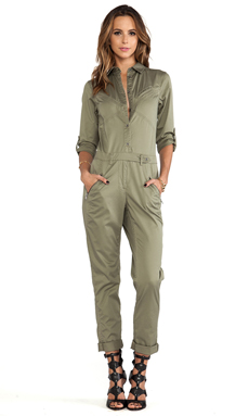 Marc by Marc Jacobs Samantha Twill Jumpsuit in Dusty Green