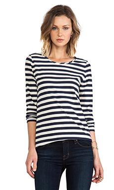 Marc by Marc Jacobs Pam Stripe Top in Deep Well Multi