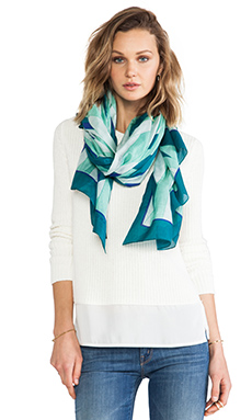 Marc by Marc Jacobs Diamond Flame Print Scarf in Limestone Multi