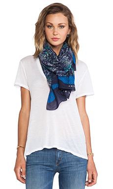 Marc by Marc Jacobs Spray Paint Snake Print Scarf in Ink Blue Multi