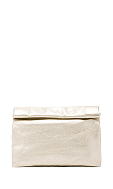 Marie Turnor Lunch Clutch in Platinum