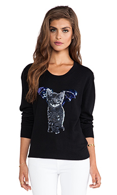 Markus Lupfer Catbat Sequin Nat Pullover in Black