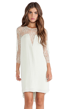 Mason by Michelle Mason Lace Shift Dress in Celadon