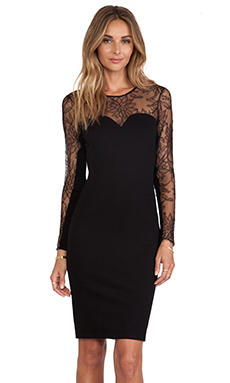 Mason by Michelle Mason Lace Dress in Black
