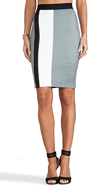 Mason by Michelle Mason Pencil Skirt in Grey Combo