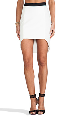 Mason by Michelle Mason Geometric Skirt in Ivory