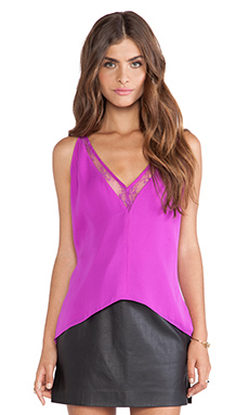 Mason by Michelle Mason Lace Cami in Fuschia