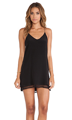 May. Tangled Mini Dress in Licorice