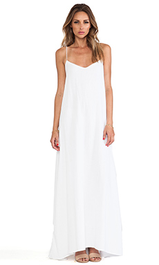 MERRITT CHARLES Panama Dress in White Optic