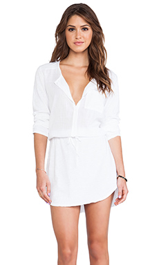 Michael Stars Shirt Dress in White