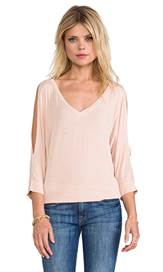 Michael Stars Cold Shoulder V Neck in Swan
