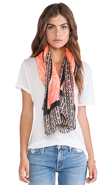Michael Stars Block and Blended Scarf in Neon Posey
