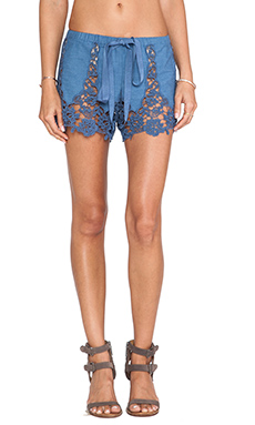 Miguelina Gwen Shorts in Denim