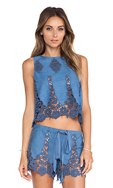 Miguelina Micha Tank in Denim