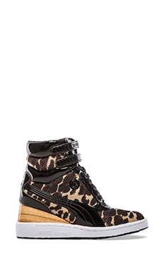 Puma by Mihara MY-77 Leopard Sneaker in Curds & Whey