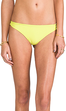 MIKOH Miyako Basic Skimpy Bottom in Star Fruit