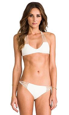 MIKOH Banyans Skinny String Top in Bone