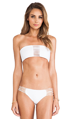 MIKOH SWIMWEAR SUNSET SKINNY STRING BANDEAU TOP