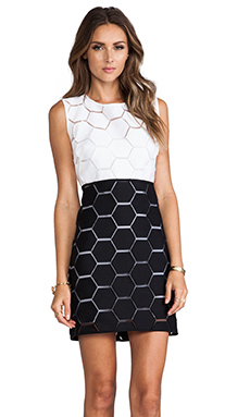 MILLY Eloise Shift Dress in Black & White