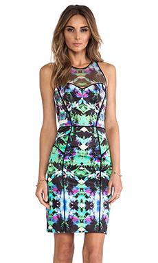 MILLY Mesh Racer Dress in Multi