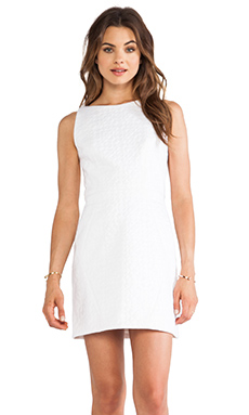 MILLY Angeled Shift Dress in White