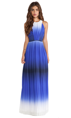 MILLY Ombre Print Maxi Dress in Indigo