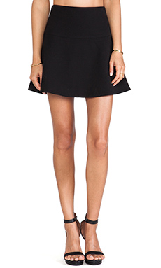 MILLY Flare Skirt in Black