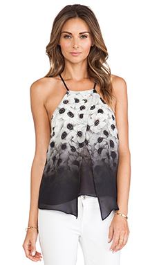 MILLY Ombre Camellia Crossover Tank in Multi