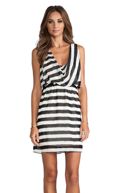 MM Couture by Miss Me Striped Sleeveless Dress in Black & White