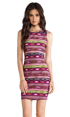 MM Couture by Miss Me Sleeveless Bodycon Dress in Multi Print