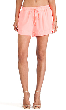 MM Couture by Miss Me Track Shorts in Coral