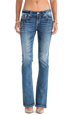Miss Me Jeans Mid-Rise Boot in MED 241