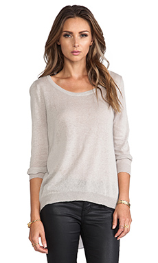 MM Couture by Miss Me Woven Back Sweater in Grey