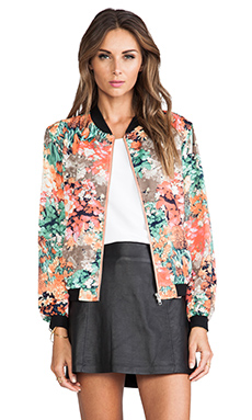 MM Couture by Miss Me Floral Bomber Jacket in Multi Print