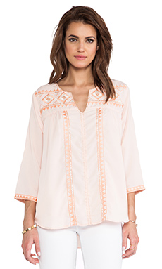 MM Couture by Miss Me Beaded Blouse in Peach